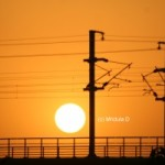 Skywatch Friday- Sunset over the Noida Metro Line