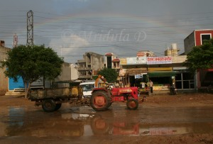 Rainbow and the gurgaon roads