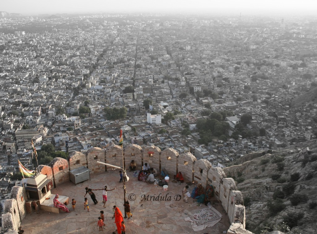 A View of Jaipur City from Nahargarh Fort