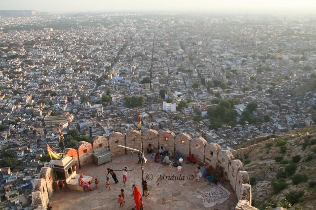 Jaipur City from Nahargarh Fort