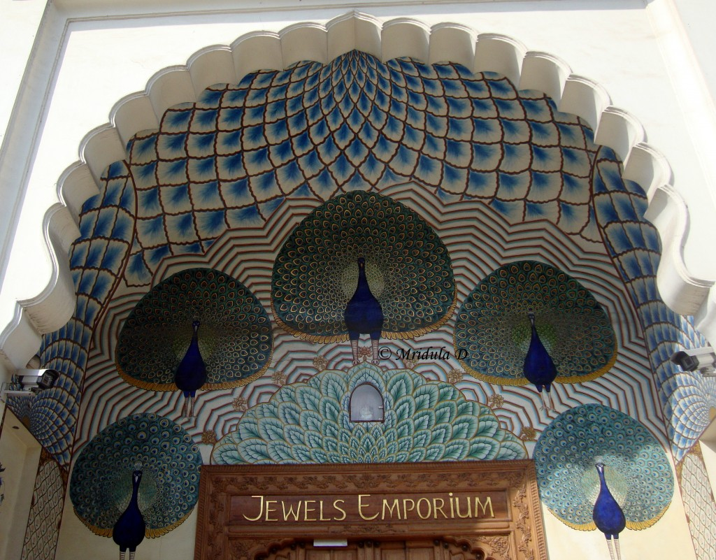 Peacock mural on a jewels emporium