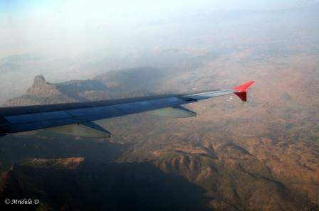 Ariel View of Descent Near Mumbai