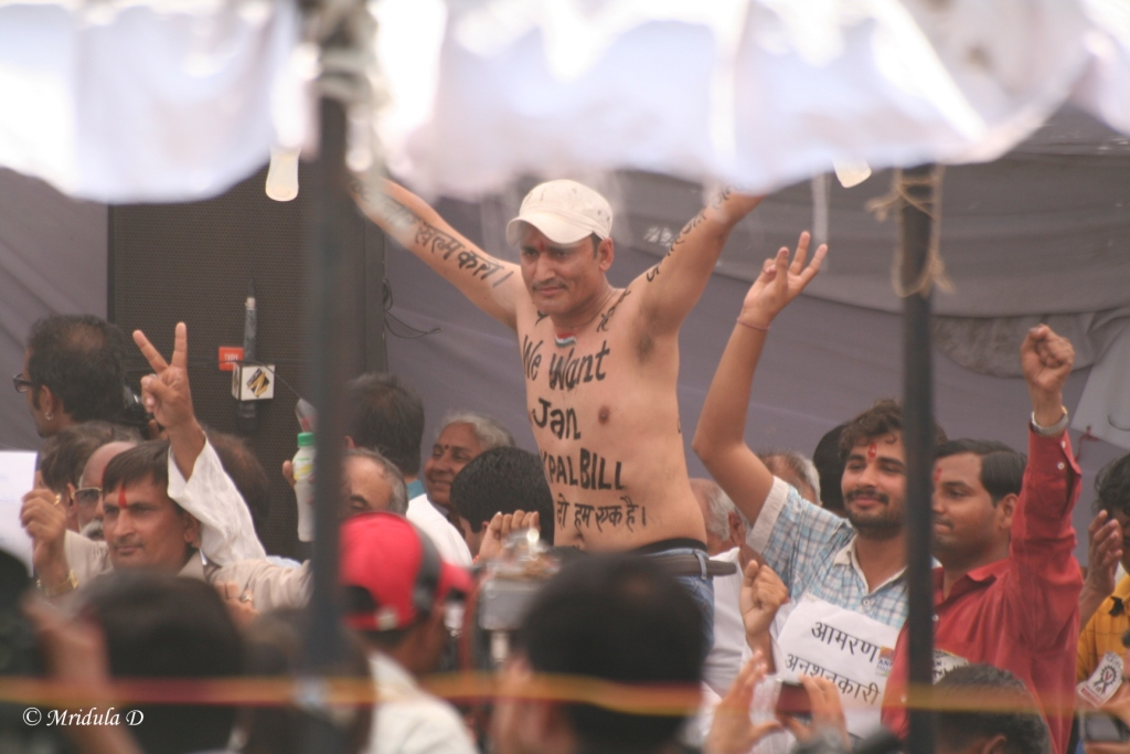 Body Art at Anna Hazare Fast at Jantar Mantar