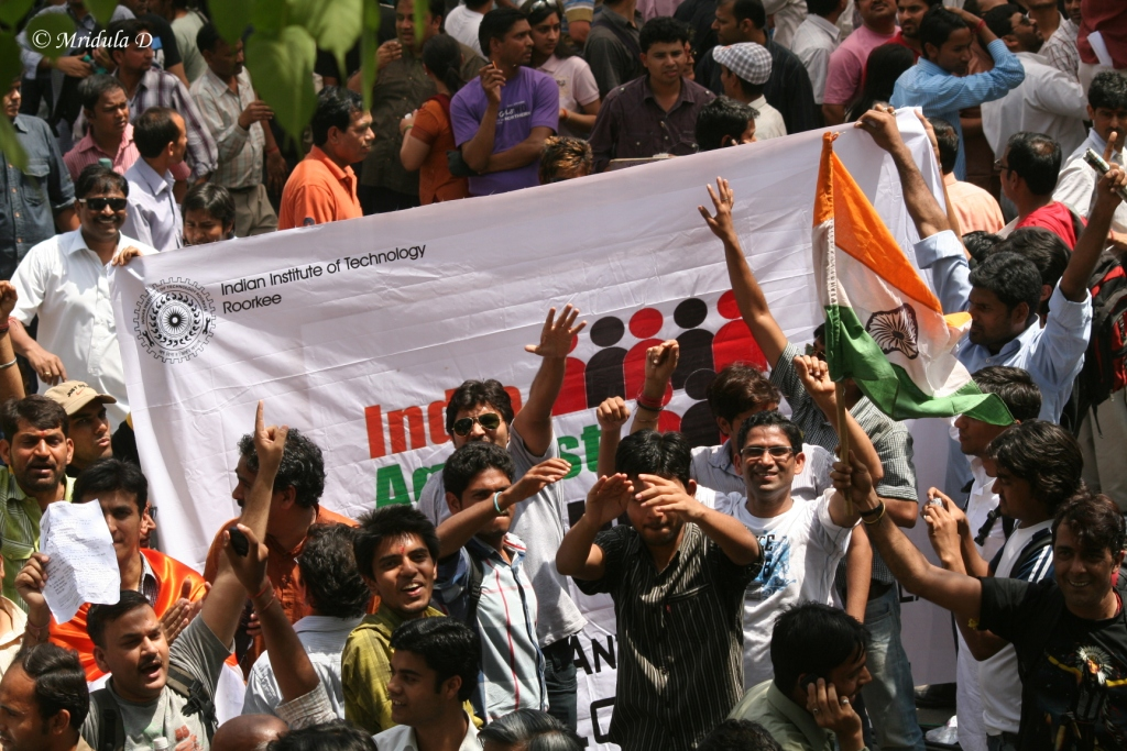 IIT Roorkee Students at Anna Hazares Fast at Jantar Mantar
