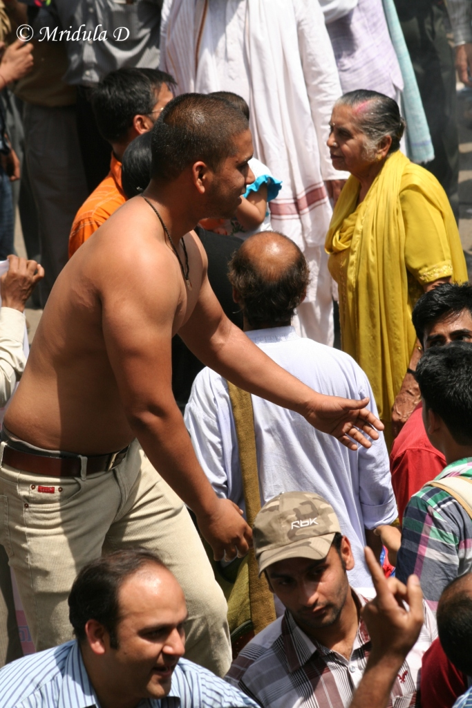 Shirtless Celebration at Jantar Mantar