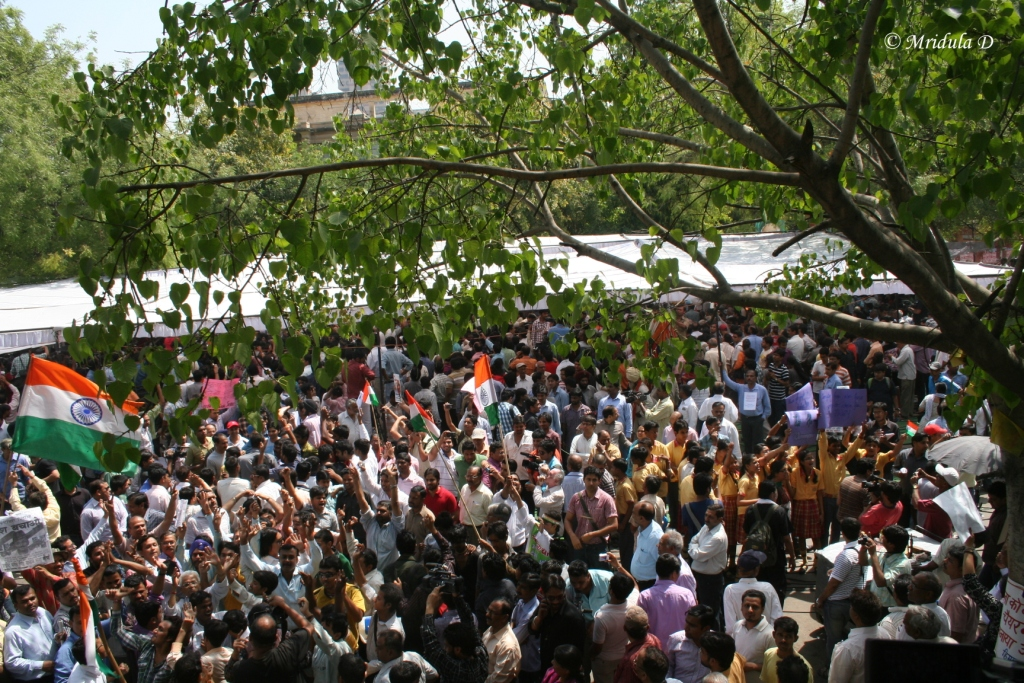 The Crowd at Anna Hazares Fast at Jantar Mantar