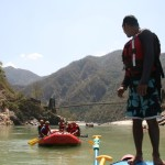 Vikram of Rimo Expeditions Doing Summersalt from a Raft!