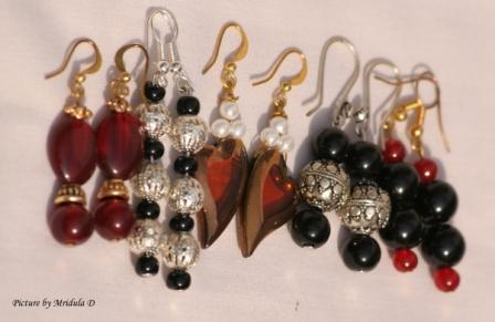 Chitra's Jewel Art- My Earrings