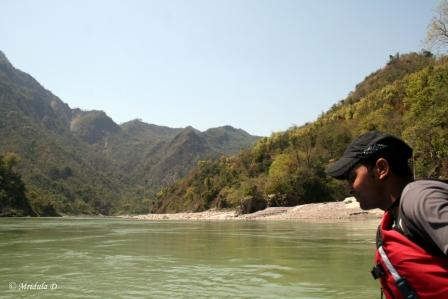 Vikram Our Raft Expert while we were Rafting at Rishikesh