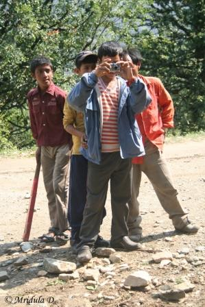 Kids taking a picture for us