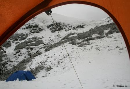 Snow at Talhauti, View from the Tent
