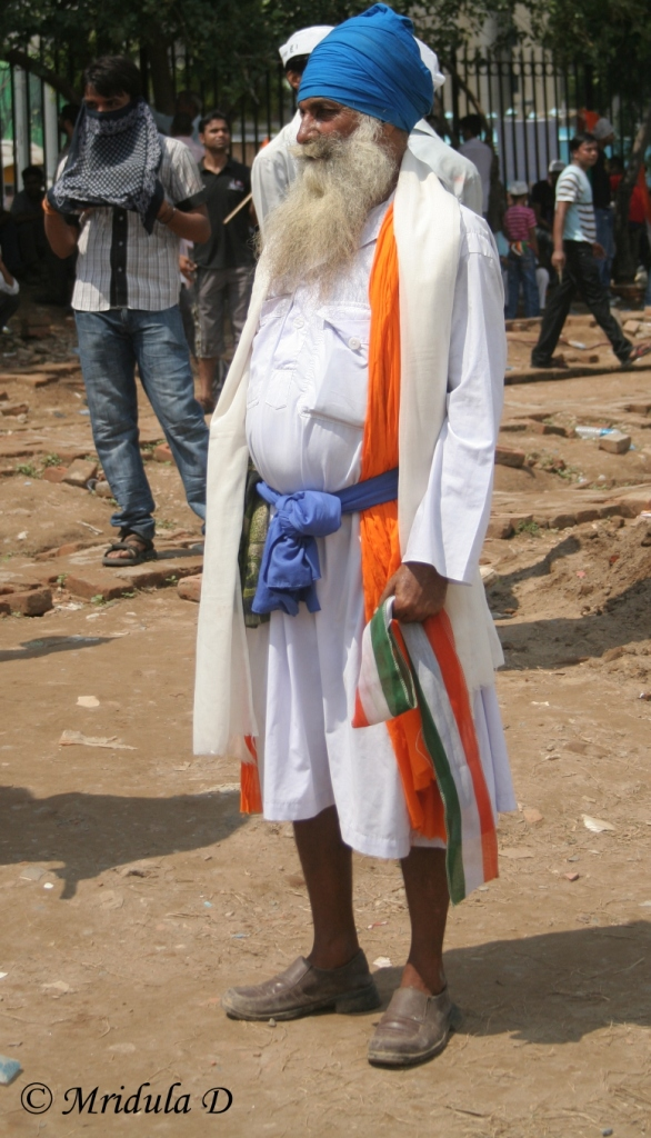 An Elderly Sikh at the Ramlila Maidan
