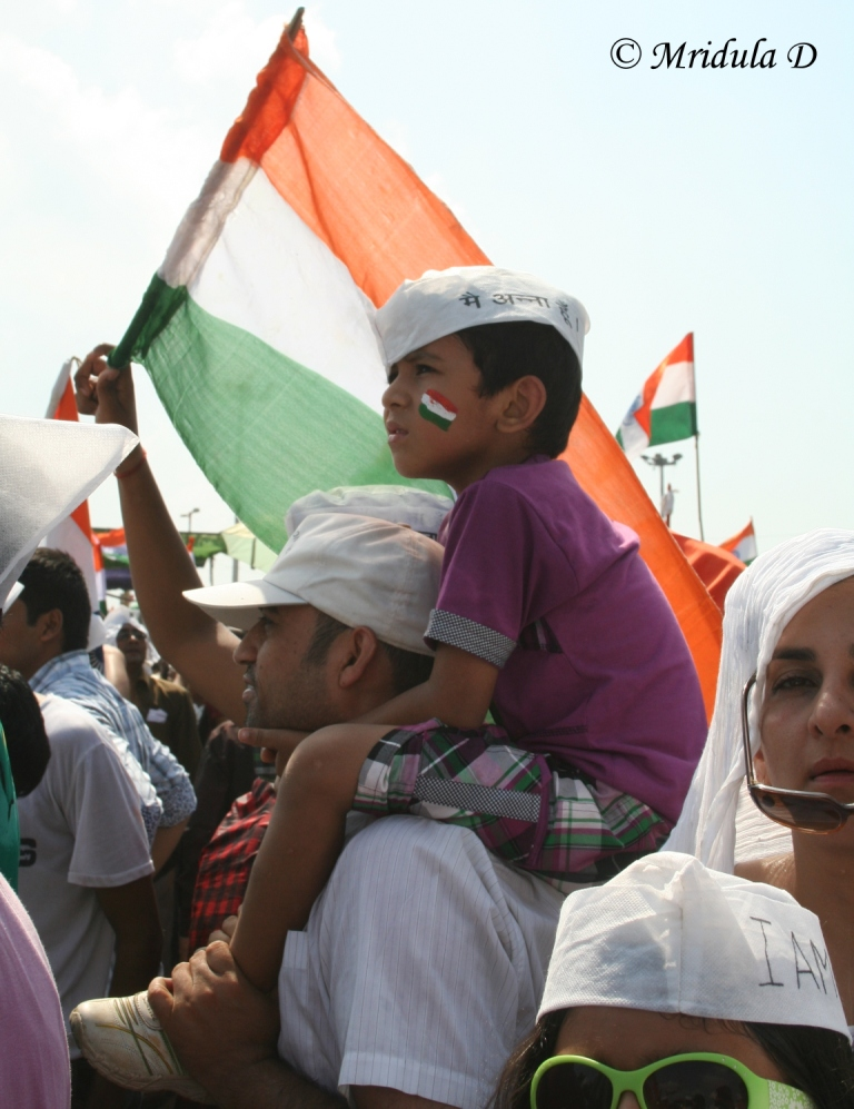 Another Kid on his Fathers Shoulders Ramlila Maidan