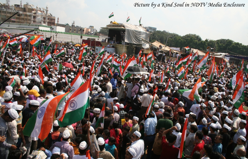 Crowds at Ramlila Maidan, Last Day