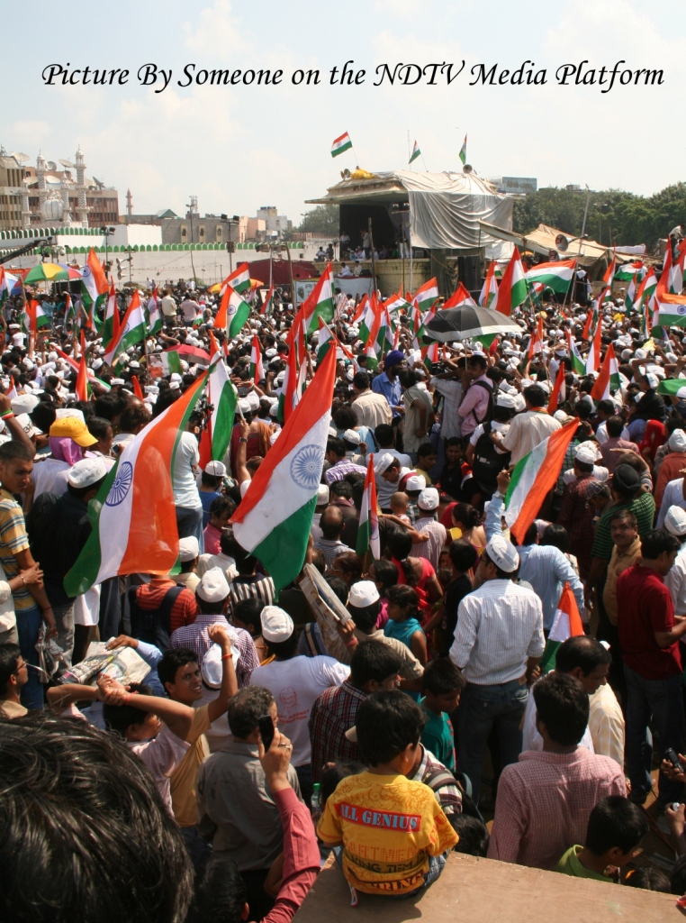 The Crowd at the Ramlila Maidan