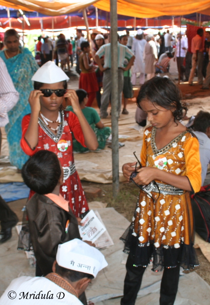 Small Girls at Ramlila Maidan