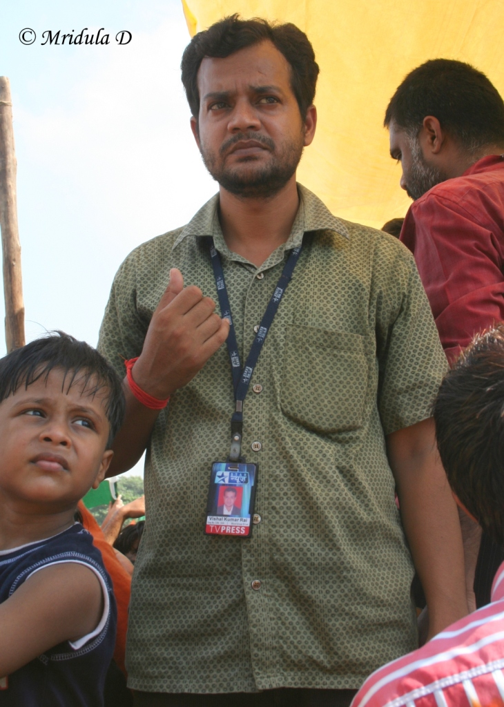 Star TV Media Employee at Ramlila Maidan