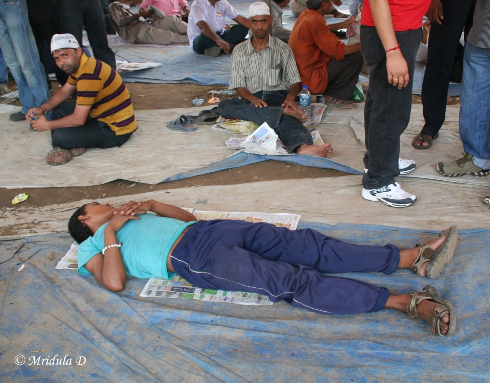Too Tired at Ramlila Maidan