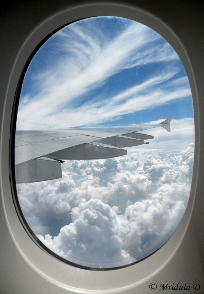 Sky shot  from an Airbus A 380-800