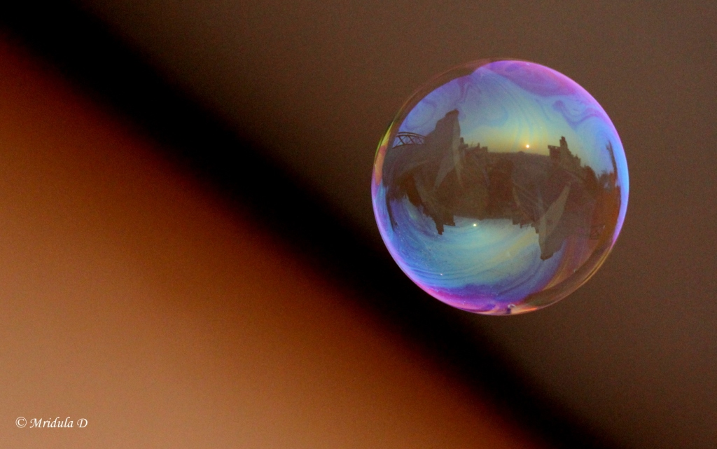 Sky Reflected in a Soap Bubble