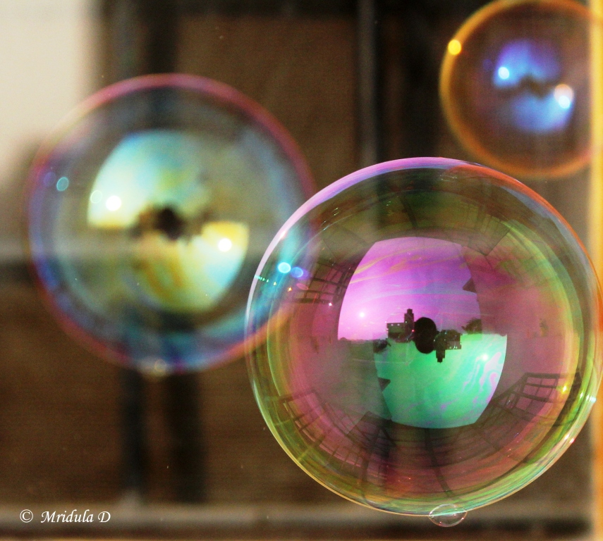 My Camera Reflected in Soap Bubbles