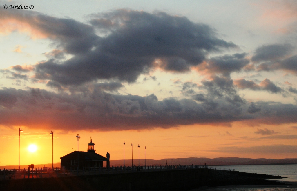 Sunset Near Morecambe Lighthouse, Lancashire, UK