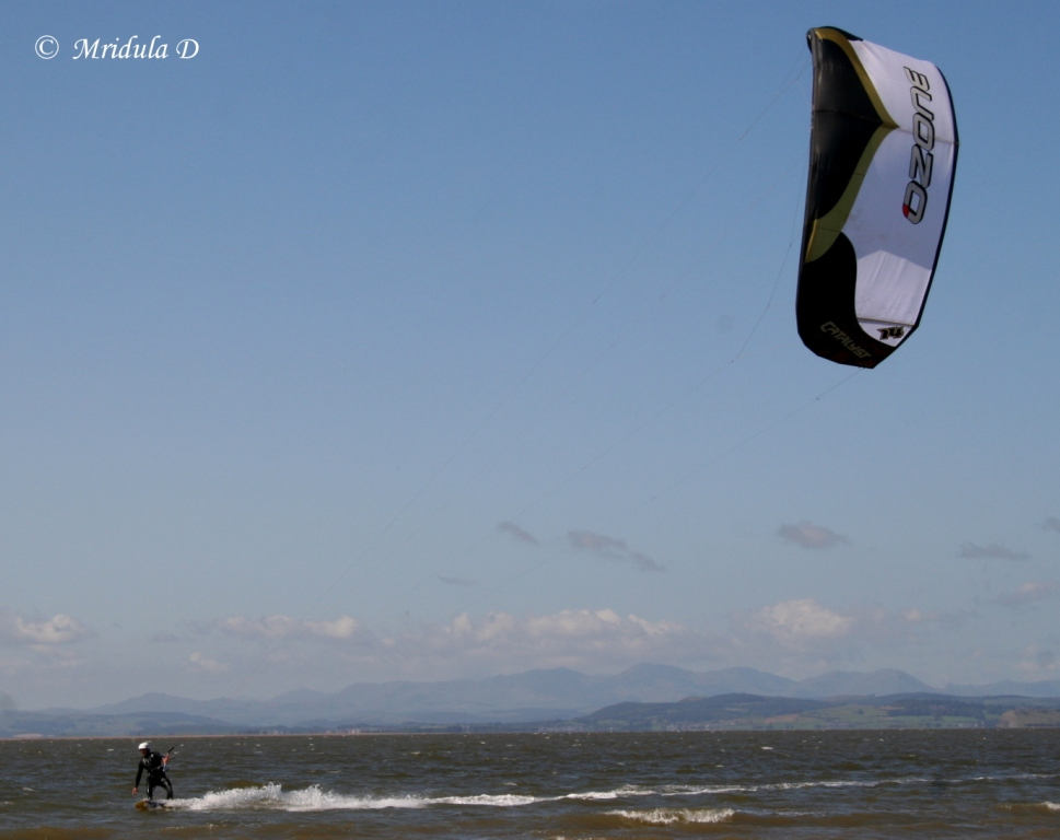 A Windsurfer at Morecambe, UK