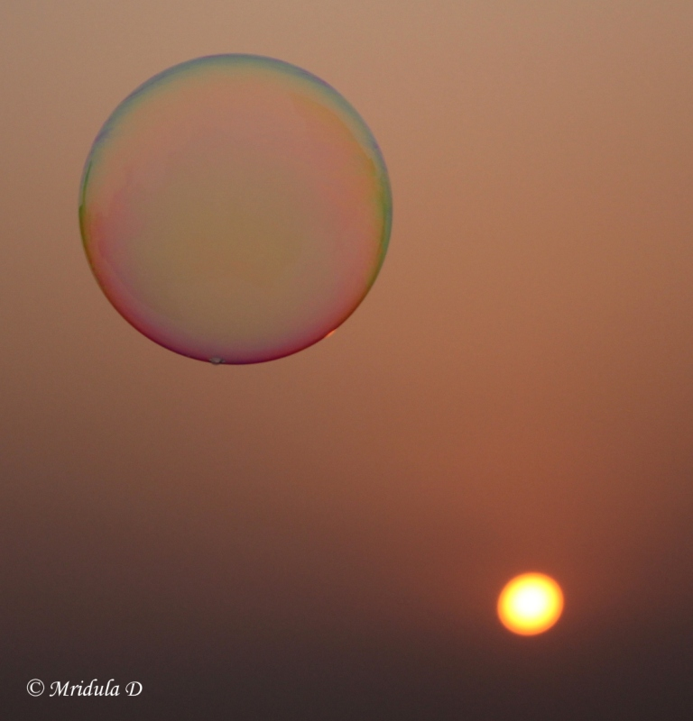 sunset gurgaon soap bubble