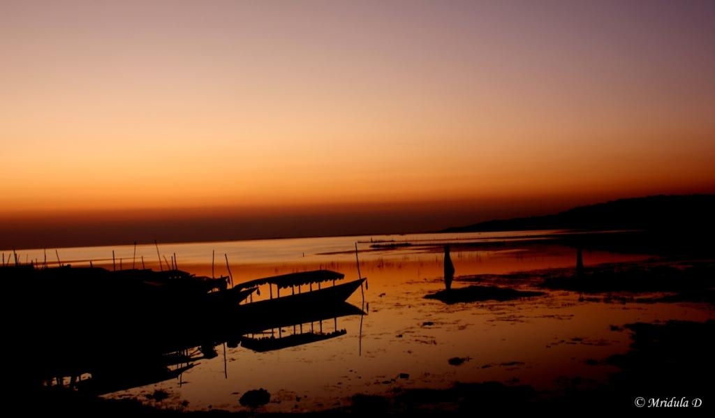 Dawn at Chilika Lake, Barakul, Odisha, India