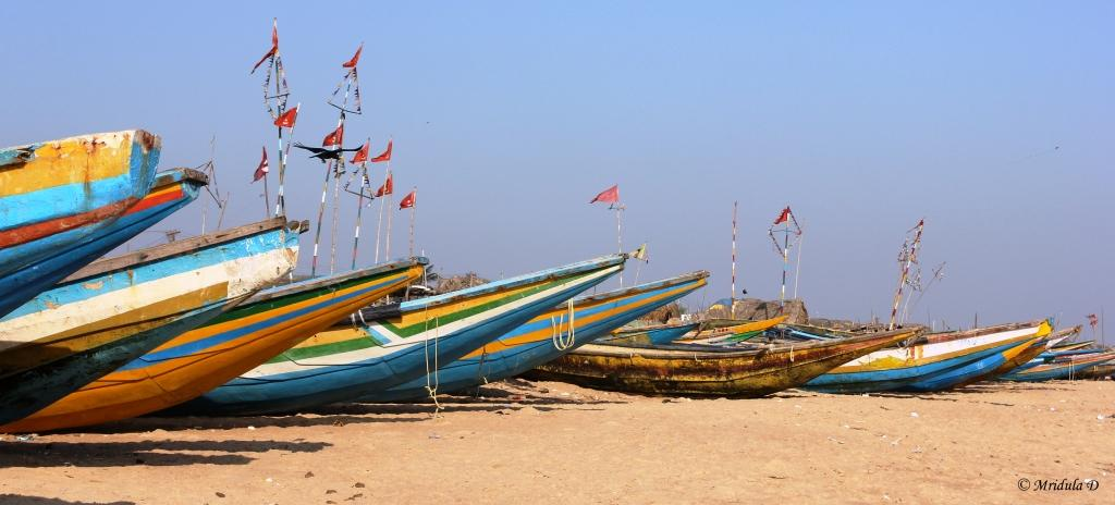 Boats at Chandrabhaga Beach, Konark, Odisha