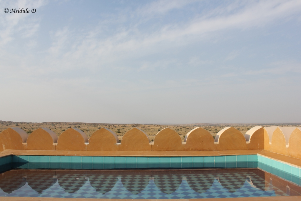 The Swimming Pool Attached with Jaisalmer Suit, Suryagarh