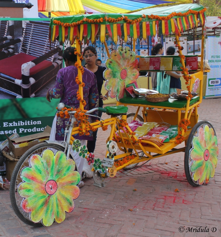 A Colorful Rickshaw at Dilli Haat