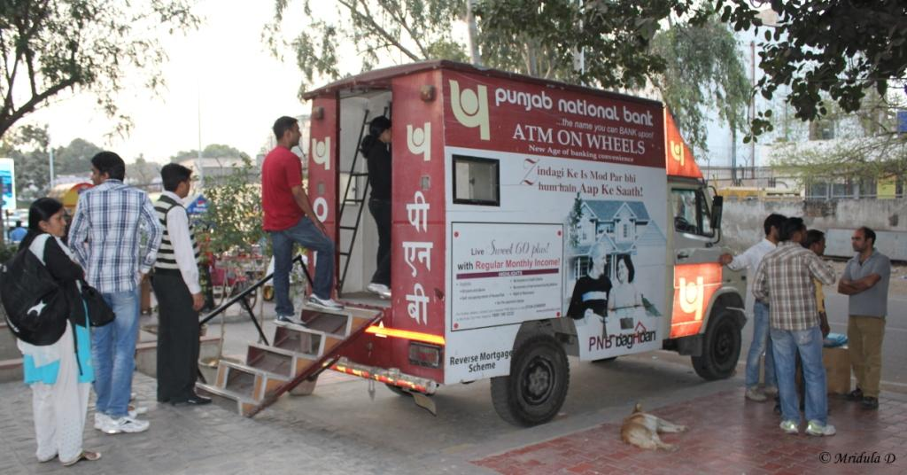 A Punjab National Bank Mobile ATM