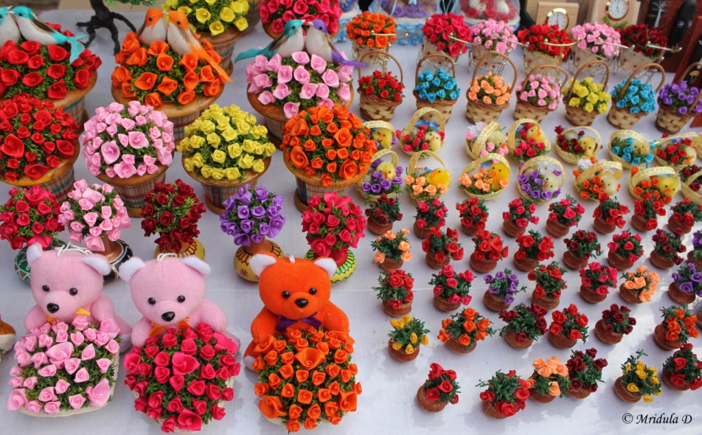 Roses as Souvenir at Dilli Haat