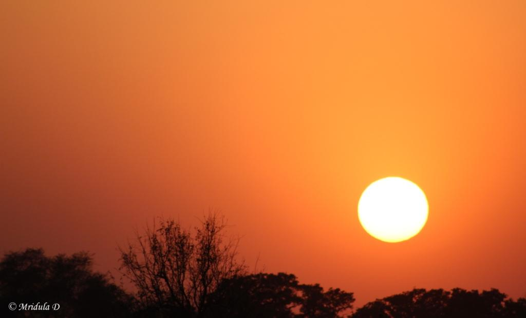 Sunset at Bharatpur