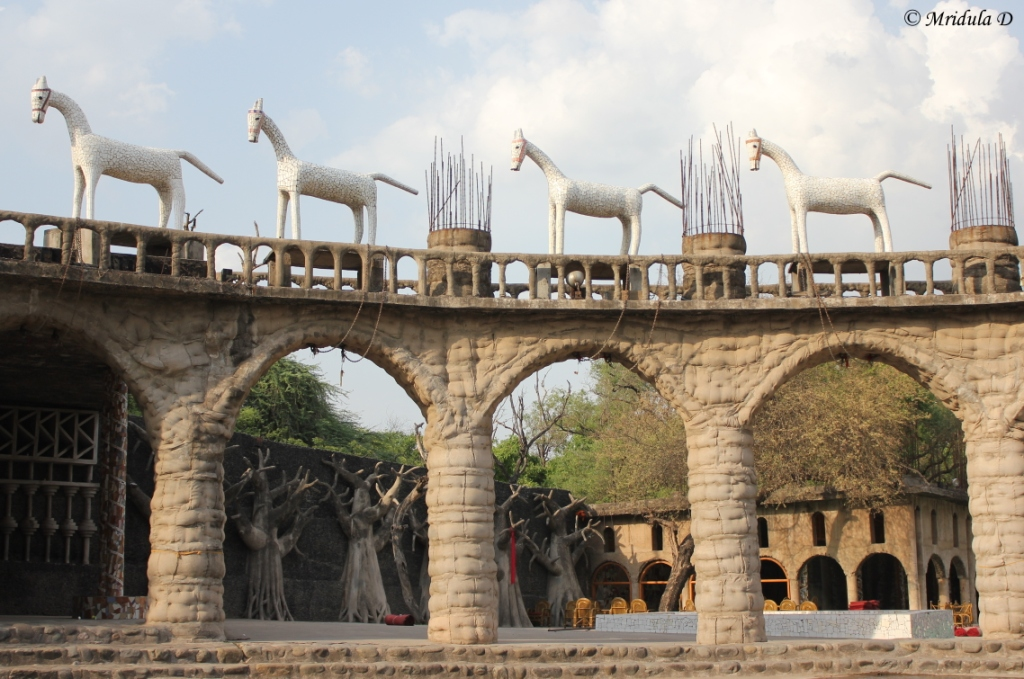 Arches and Horses, Rock Garden, Chandrigarh