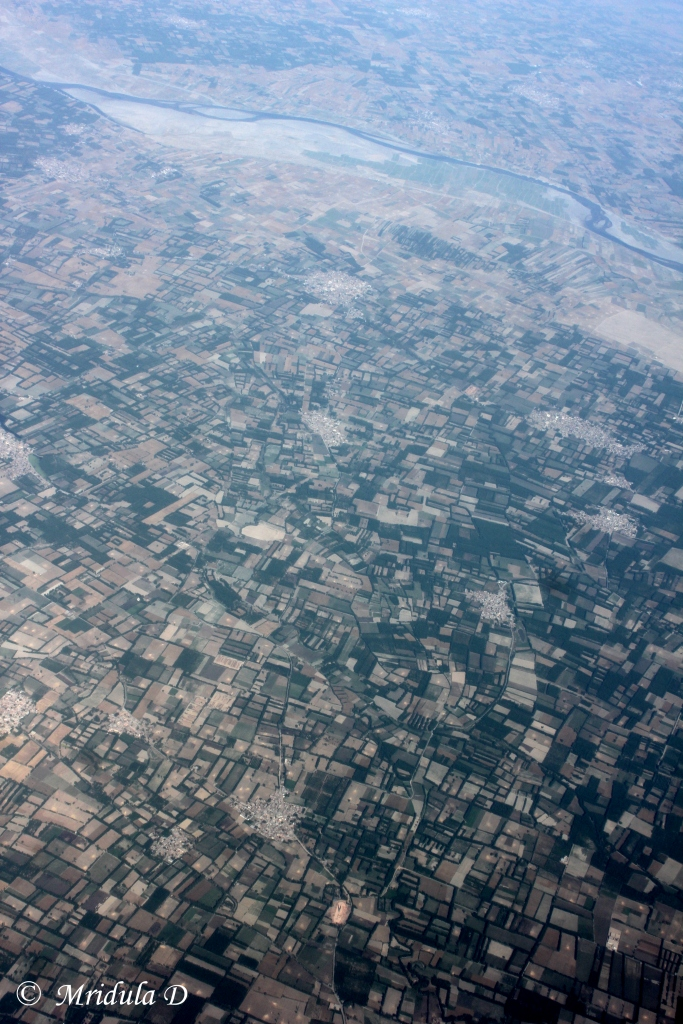 An Aerial View over a Delhi Chandigarh Flight