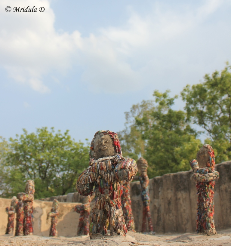 I Love the Broken Bangle Sculptures at the Rock Garden, Chandigarh