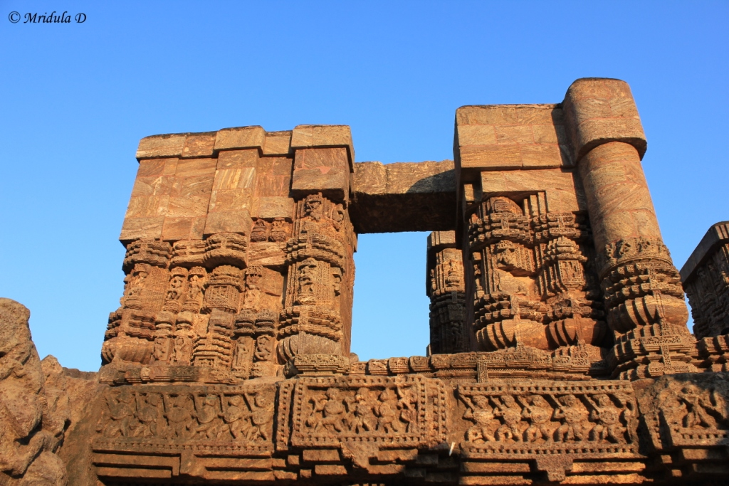 A View of the Premises of the Sun Temple at Konark, Odisha