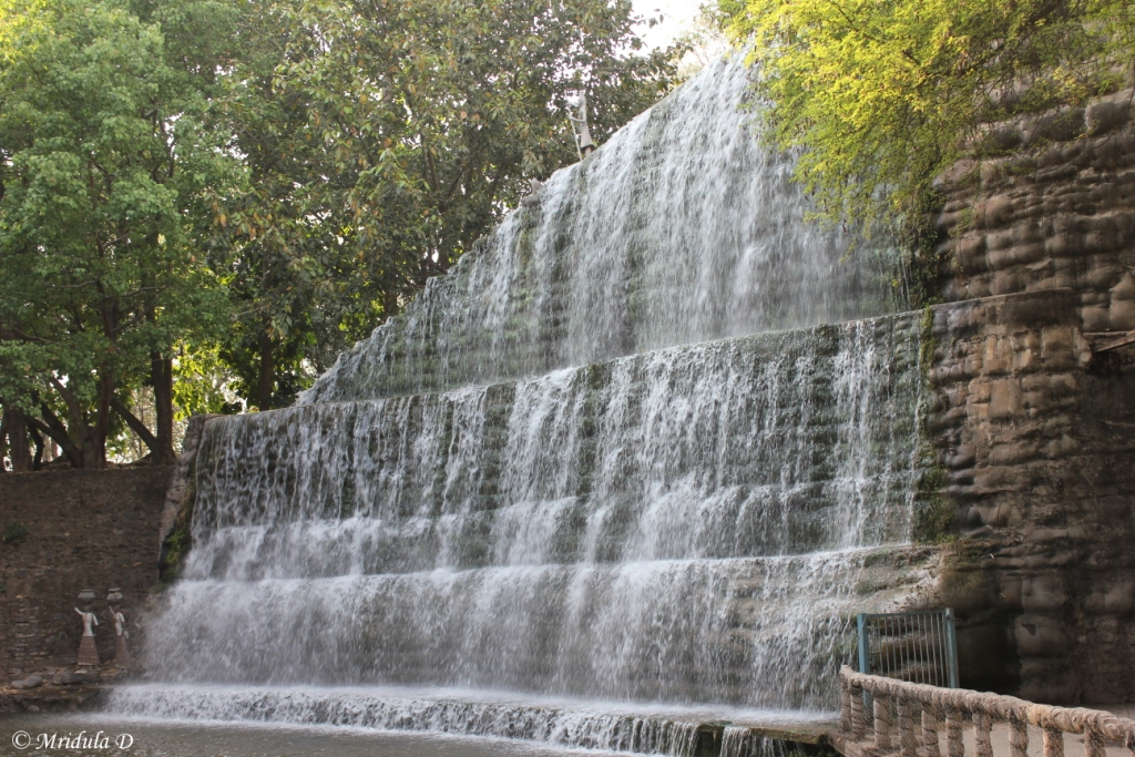 Waterfall in Phase 3 of the Rock Garden, Chandigarh