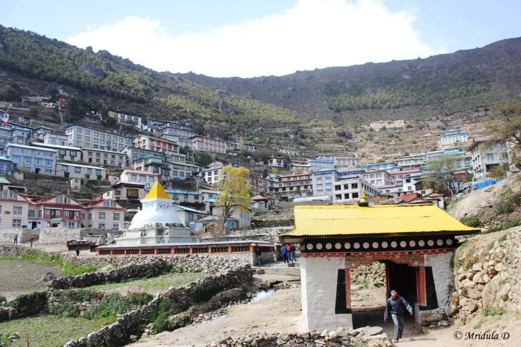 As we Enter Namche Bazaar, Everest Base Camp Trek, Nepal