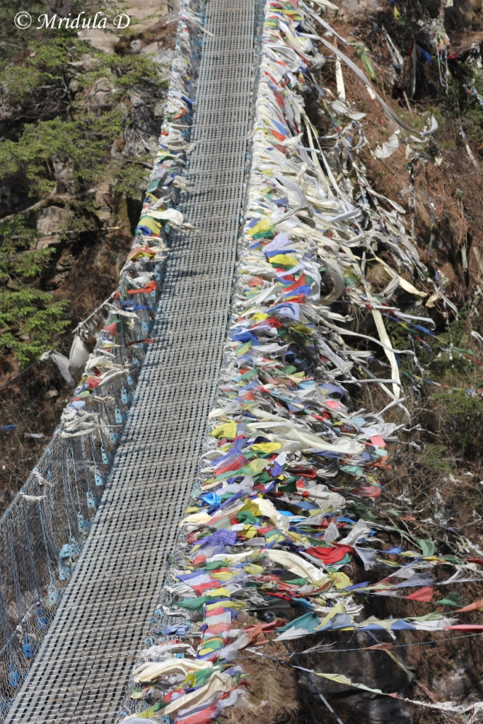 Bridge with Prayer Flags, Everest Base Camp Trek, Nepal