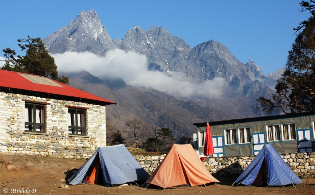 Tents at Tengboche, Everest Base Camp Trek, Nepal