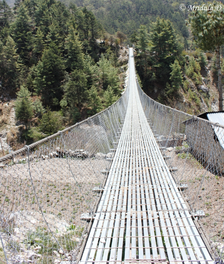 The Bridge Near Lunch Spot, Namche Tengboche Route, Everest Base Camp Trek, Nepal