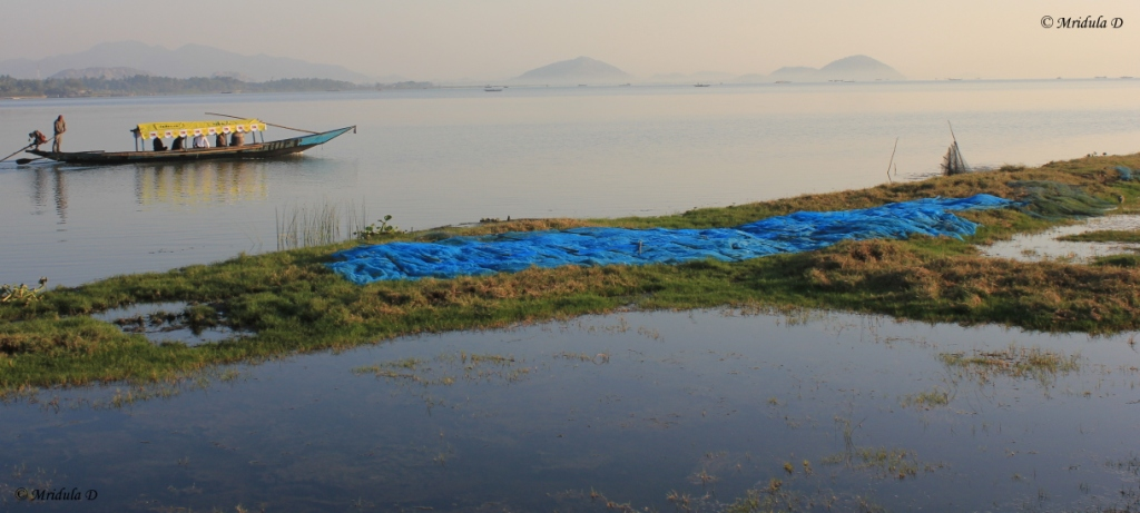A Boat and a Fishing Net, Chilika Lake, Odisha