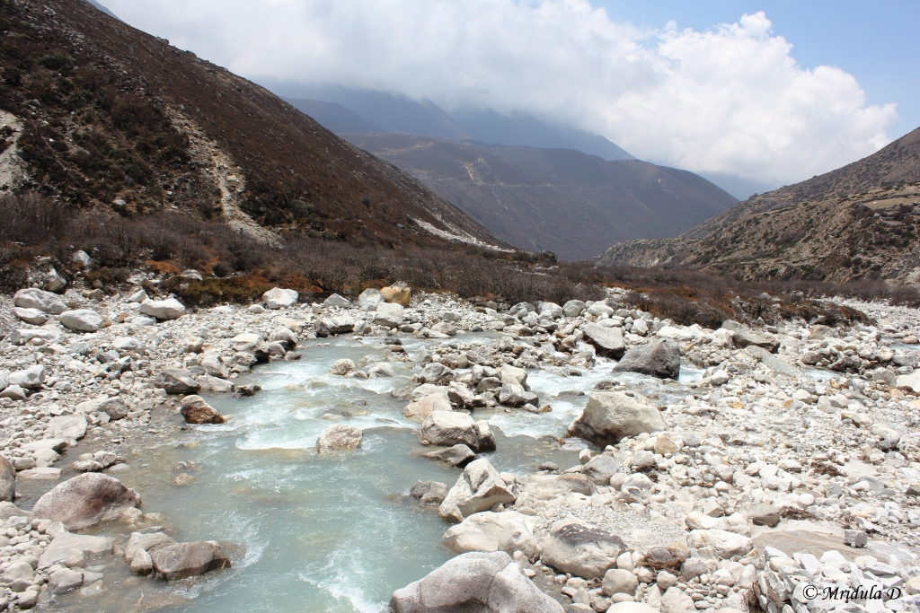 A Closer Look at River Dudh Kosi, Everest Base Camp Trek, Nepal