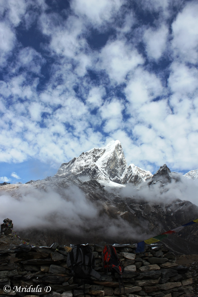 Ama Dablam in Midst of Clouds, Dingboche, Everest Base Camp Trek, Nepal