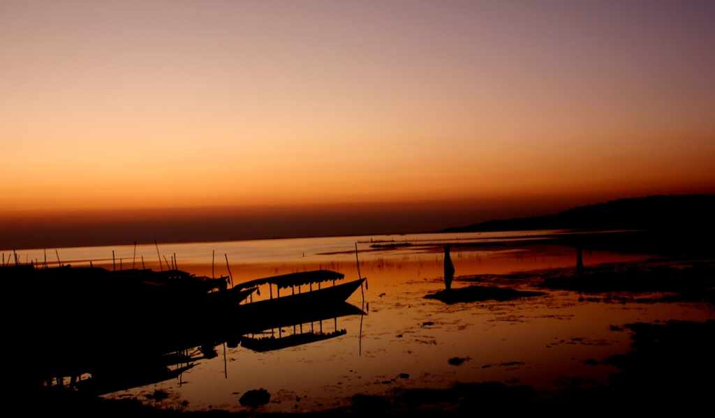 Dawn at Chilika Lake, Odisha