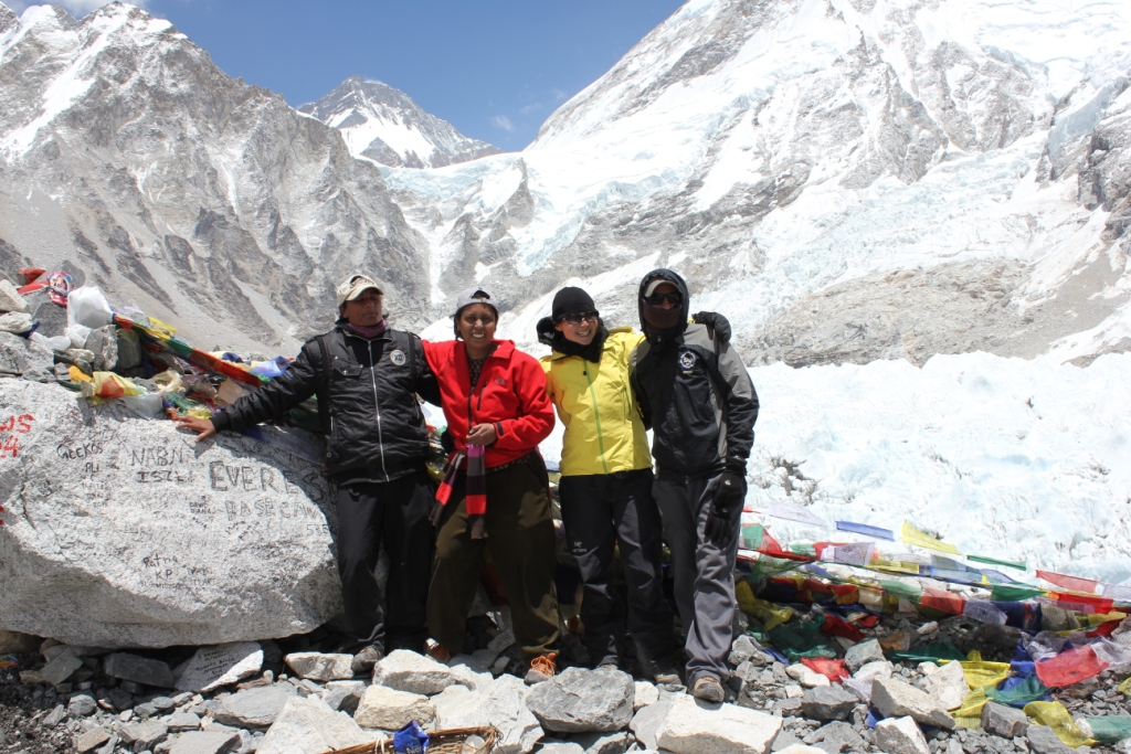 Deepak, Me, Diana and Gokarna at the Everest Base Camp
