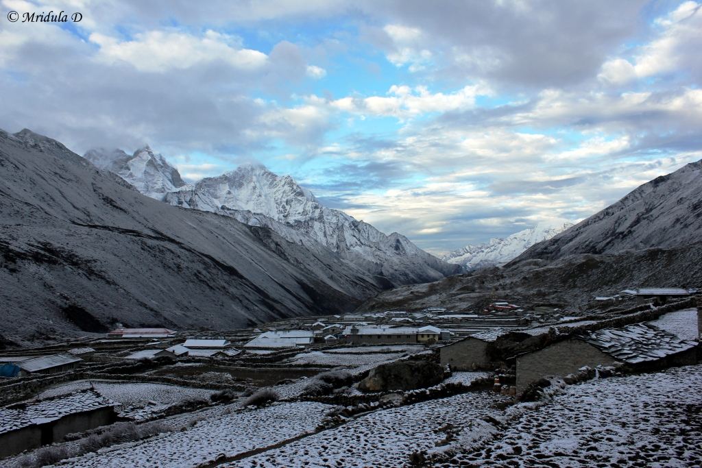 Dingboche after a Light Snow Fall, Everest Base Camp Trek, Nepal